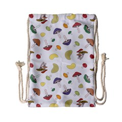 Mushrooms Pattern Drawstring Bag (small)