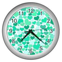 Heart 2014 0916 Wall Clocks (silver)
