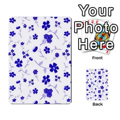 Sweet Shiny Flora Blue Multi Purpose Cards (rectangle)