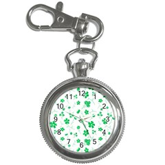 Sweet Shiny Floral Green Key Chain Watches