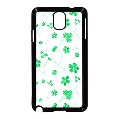 Sweet Shiny Floral Green Samsung Galaxy Note 3 Neo Hardshell Case (black) by ImpressiveMoments