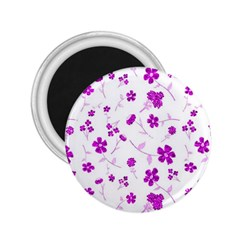 Sweet Shiny Floral Pink 2 25  Magnets by ImpressiveMoments