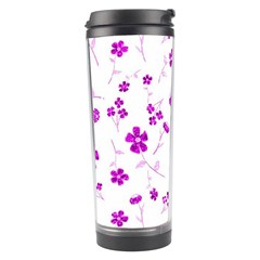 Sweet Shiny Floral Pink Travel Tumblers by ImpressiveMoments