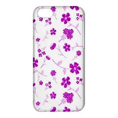 Sweet Shiny Floral Pink Apple Iphone 5c Hardshell Case by ImpressiveMoments