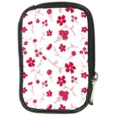Sweet Shiny Floral Red Compact Camera Cases by ImpressiveMoments