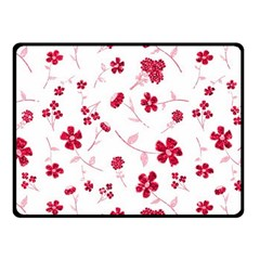 Sweet Shiny Floral Red Fleece Blanket (small) by ImpressiveMoments