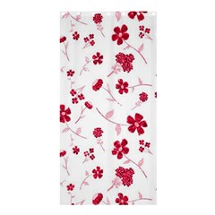 Sweet Shiny Floral Red Shower Curtain 36  X 72  (stall)  by ImpressiveMoments