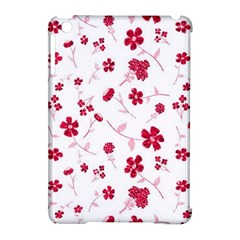 Sweet Shiny Floral Red Apple Ipad Mini Hardshell Case (compatible With Smart Cover) by ImpressiveMoments