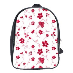 Sweet Shiny Floral Red School Bags (xl)  by ImpressiveMoments