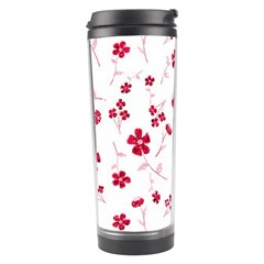Sweet Shiny Floral Red Travel Tumblers