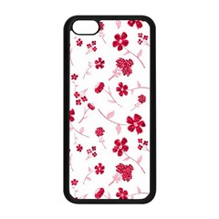 Sweet Shiny Floral Red Apple Iphone 5c Seamless Case (black) by ImpressiveMoments