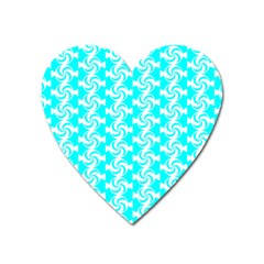 Candy Illustration Pattern Heart Magnet by creativemom