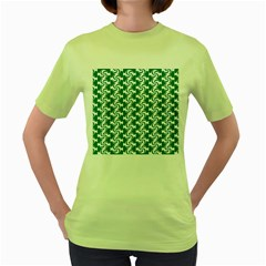 Cute Candy Illustration Pattern For Kids And Kids At Heart Women s Green T-shirt by creativemom