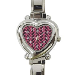 Candy Illustration Pattern Heart Italian Charm Watch by creativemom