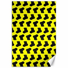 Cute Baby Socks Illustration Pattern Canvas 24  X 36