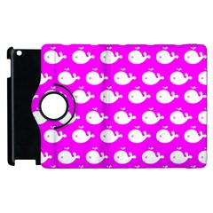 Cute Whale Illustration Pattern Apple Ipad 2 Flip 360 Case by creativemom