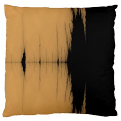 Sunset Black Large Flano Cushion Cases (two Sides)  by digitaldivadesigns