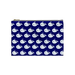 Cute Whale Illustration Pattern Cosmetic Bag (medium)  by creativemom