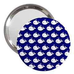 Cute Whale Illustration Pattern 3  Handbag Mirrors by creativemom