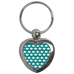 Cute Whale Illustration Pattern Key Chains (Heart)