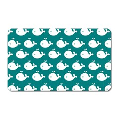 Cute Whale Illustration Pattern Magnet (Rectangular)