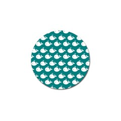 Cute Whale Illustration Pattern Golf Ball Marker