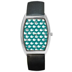 Cute Whale Illustration Pattern Barrel Metal Watches