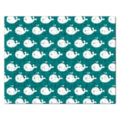 Cute Whale Illustration Pattern Rectangular Jigsaw Puzzl