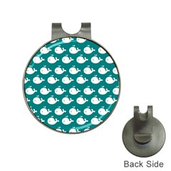 Cute Whale Illustration Pattern Hat Clips with Golf Markers