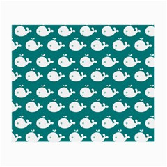 Cute Whale Illustration Pattern Small Glasses Cloth