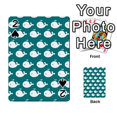 Cute Whale Illustration Pattern Playing Cards 54 Designs