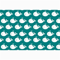 Cute Whale Illustration Pattern Collage 12  x 18