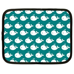 Cute Whale Illustration Pattern Netbook Case (Large)