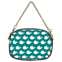 Cute Whale Illustration Pattern Chain Purses (One Side)