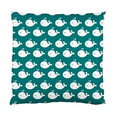 Cute Whale Illustration Pattern Standard Cushion Case (One Side)