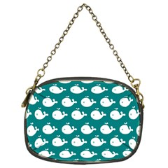Cute Whale Illustration Pattern Chain Purses (Two Sides)