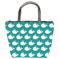 Cute Whale Illustration Pattern Bucket Bags