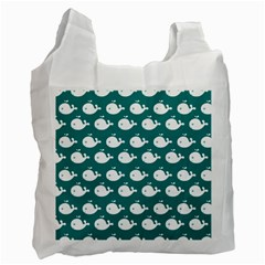 Cute Whale Illustration Pattern Recycle Bag (One Side)