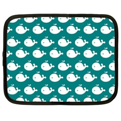Cute Whale Illustration Pattern Netbook Case (XL)