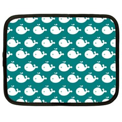 Cute Whale Illustration Pattern Netbook Case (XXL)