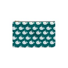 Cute Whale Illustration Pattern Cosmetic Bag (Small)
