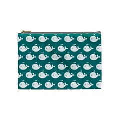 Cute Whale Illustration Pattern Cosmetic Bag (Medium)