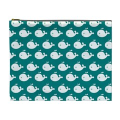 Cute Whale Illustration Pattern Cosmetic Bag (XL)