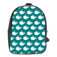 Cute Whale Illustration Pattern School Bags(Large)