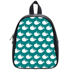 Cute Whale Illustration Pattern School Bags (Small)