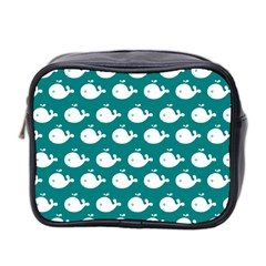Cute Whale Illustration Pattern Mini Toiletries Bag 2-Side