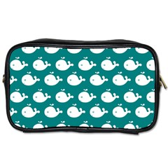 Cute Whale Illustration Pattern Toiletries Bags 2-Side