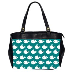 Cute Whale Illustration Pattern Office Handbags (2 Sides)