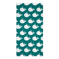Cute Whale Illustration Pattern Shower Curtain 36  x 72  (Stall)