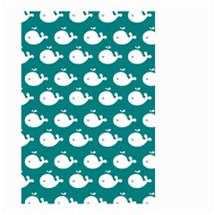 Cute Whale Illustration Pattern Small Garden Flag (Two Sides)